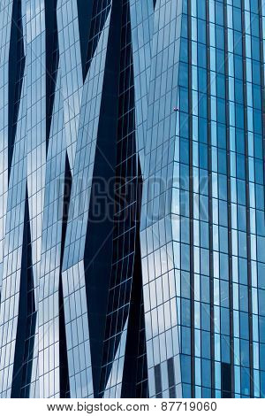 the windows of a modern building for offices