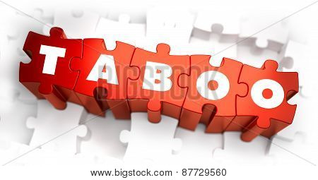 Taboo - Text on Red Puzzles.