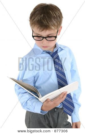 Student Reading Or Studying