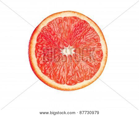 Juicy Grapefruit Isolated On White