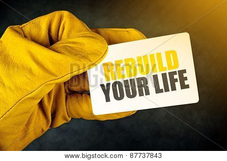 Rebuild Your Life On Business Card