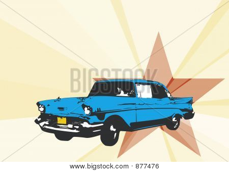 Cuban Car Illustration