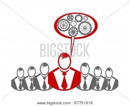 Concept Of Winner Executive, Champion Businessman
