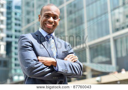 Confident Entrepreneur, Folded Arms.