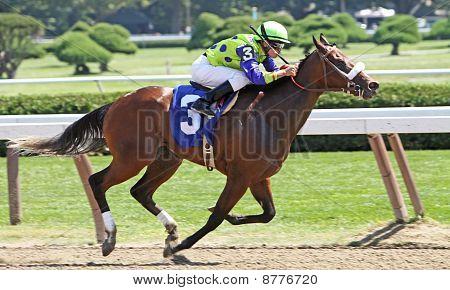Winning Her First Race