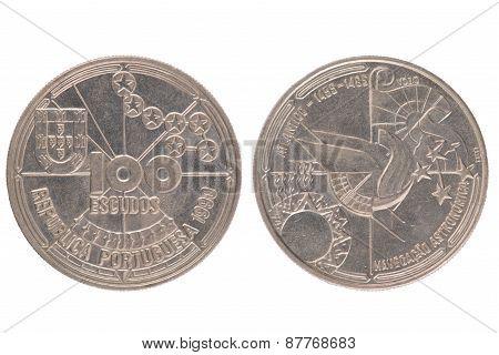 Portuguese 100 Escudos Coin