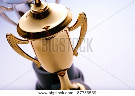 Shiny Gold Trophy Award