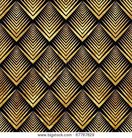 art deco golden sealless pattern