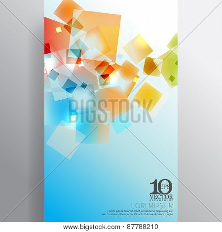 eps10 vector multicolor transparent overlapping geometric squares background design
