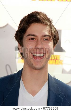 LOS ANGELES - FEB 11:  Nat Wolff at the MTV Movie Awards 2015 at the Nokia Theater on April 11, 2015 in Los Angeles, CA