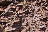 Fragment of shale rock - Skansen in Krivoy Rog in Ukraine poster