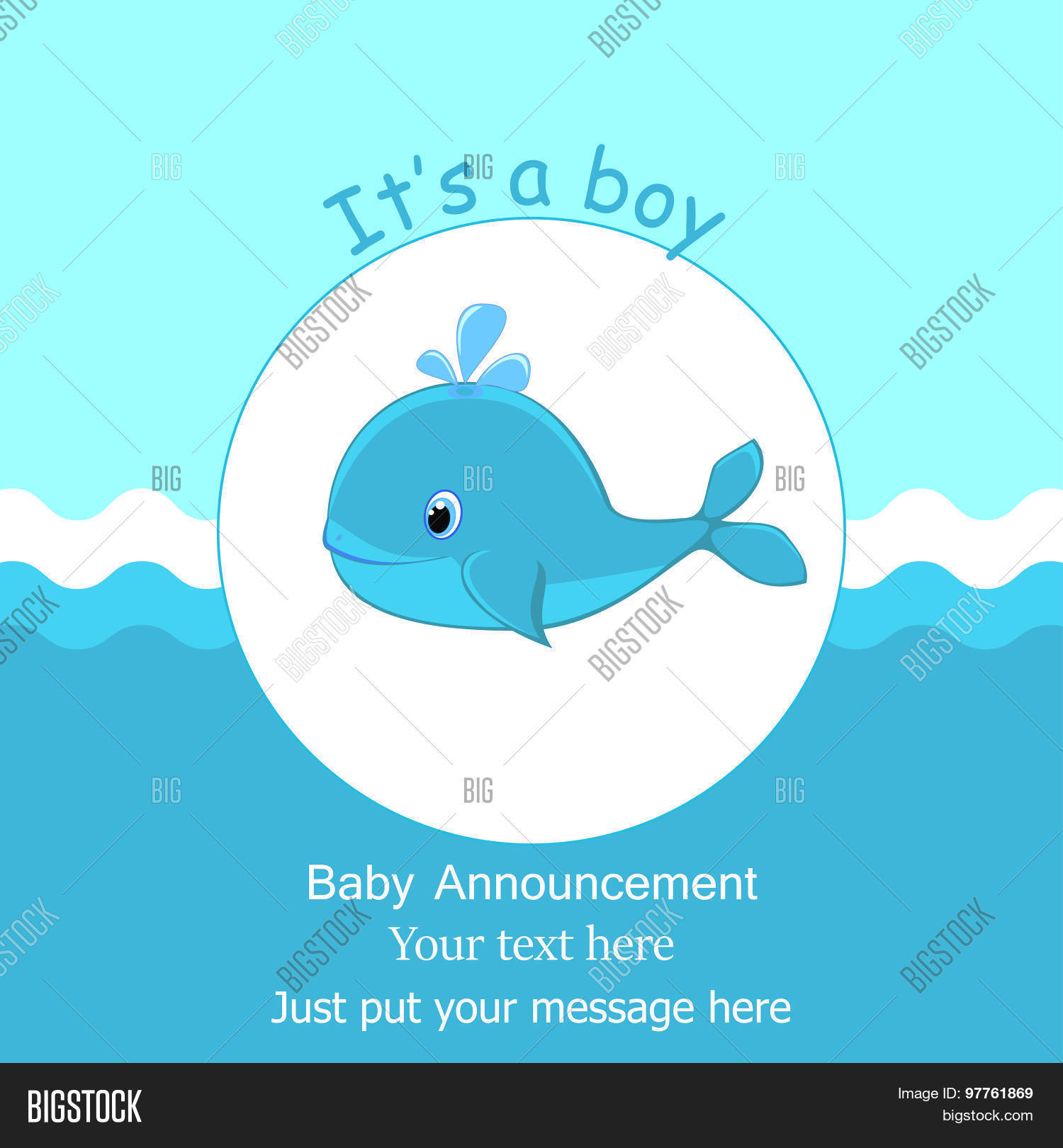 Whale baby shower boy card design vector photo bigstock whale baby shower its a boy card design baby shower invitation template filmwisefo