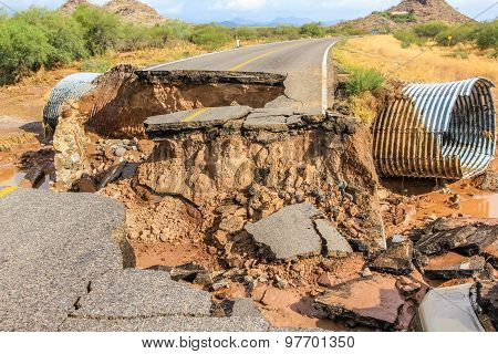 Road collapse