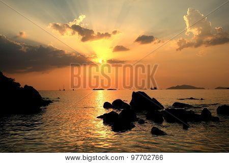 Beautiful Sunset Twilight At Andaman Sea, Landscape