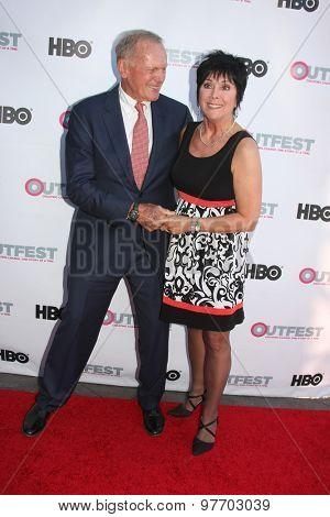 LOS ANGELES - JUL 11:  Tab Hunter, Joyce DeWitt at the