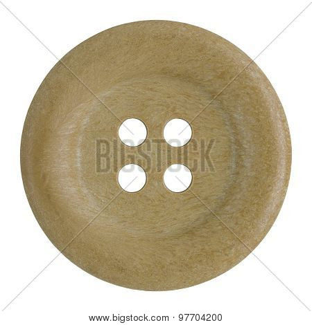 Sewing Buttons Isolated On White With Clipping Path