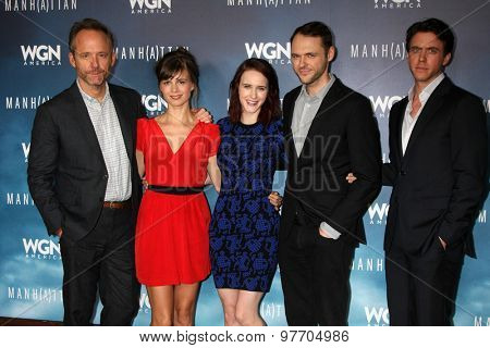 LOS ANGELES - JUL 29: John Benjamin Hickey, Rachel Brosnahan, Christopher Denham, Katja Herbers, Ashley Zukerman at the