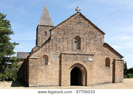 Saint Pierre de Brancion church in Brancion, France