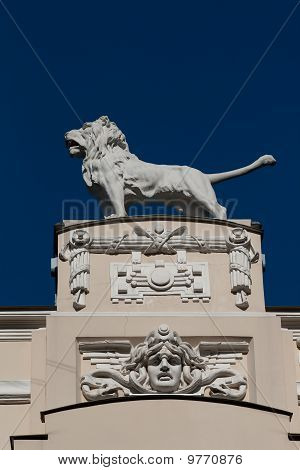 Detail Of Art Nouveau (jugenstil) Building