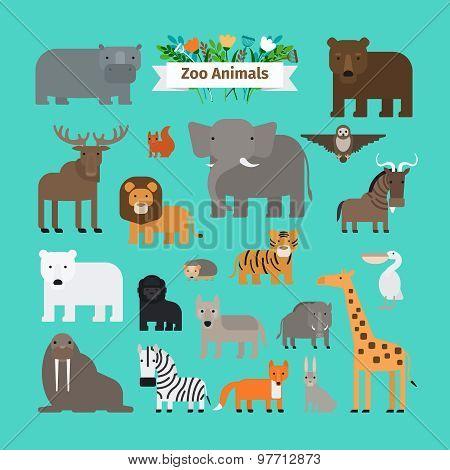 Zoo Animals Icons