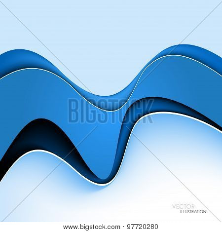 Abstract Background With Blue Lines. Vector