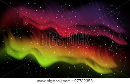 Space, aurora background