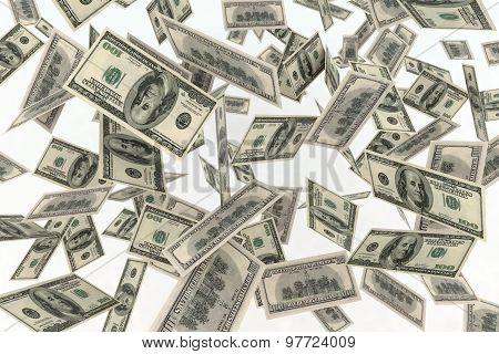 Falling Banknotes Dollar