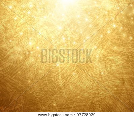 Gold Textured Background. Vector Illustration.
