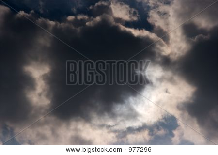 big dark clouds in the stormy sky poster