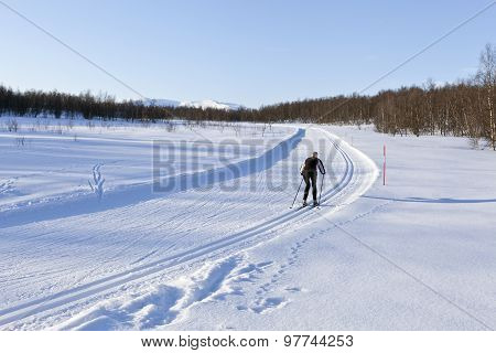 LAPLAND, SWEDEN ON MARCH 16
