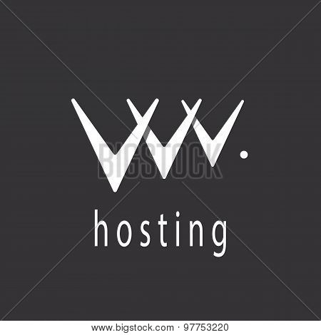 V Letter Or Abstract Web Hosting Sign Logo Template