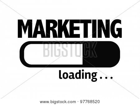Progress Bar Loading with the text: Marketing