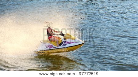 fun on jet ski