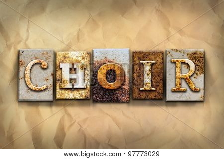 Choir Concept Rusted Metal Type