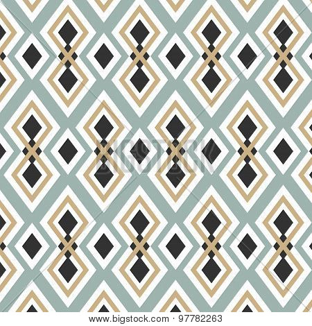 Seamless Geometric Color Tile Vector Pattern Background Wallpape