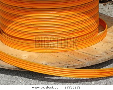 Orange Pipes For Fiber Optic Connection Adsl Users