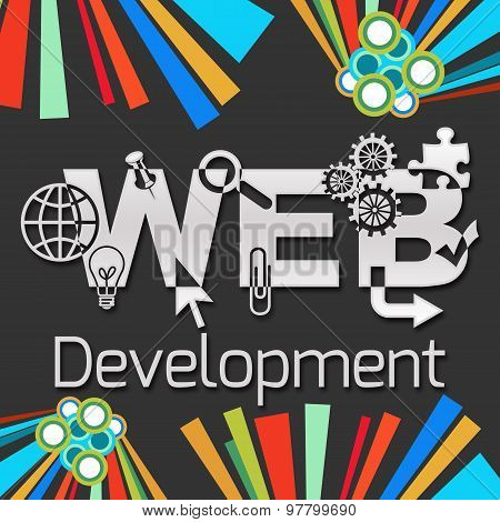 Web Development Dark Colorful Elements