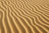 ridges of sand formed in sand dune located in oceana california poster
