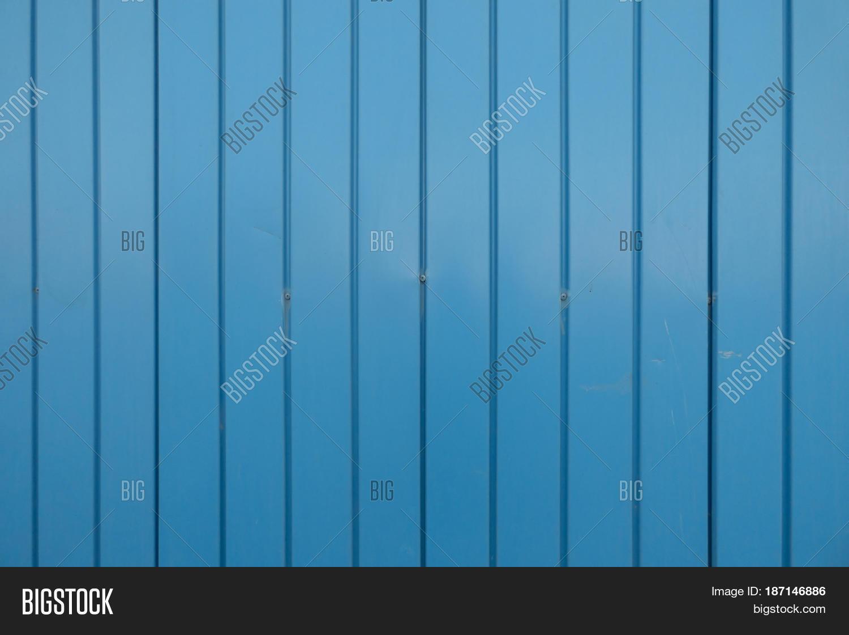 Blue Metal Siding Wall Image & Photo (Free Trial) | Bigstock