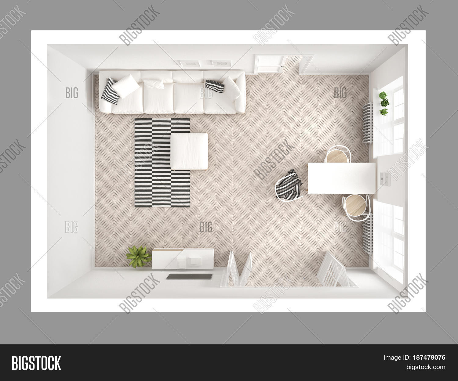 living room top view bright minimalist image amp photo free trial bigstock 14256