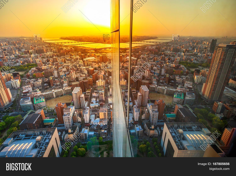 Aerial View Osaka City Image & Photo (Free Trial)   Bigstock