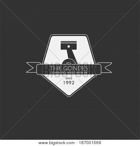 Badge Logo Icon Vintage style with Piston