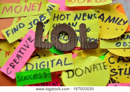 word lo on a  abstract colorful background