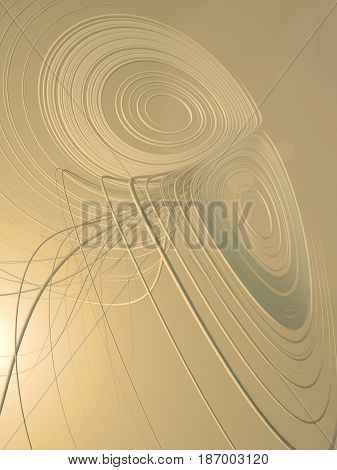 Sand colored abstract art streaks effect background. 3d rendering