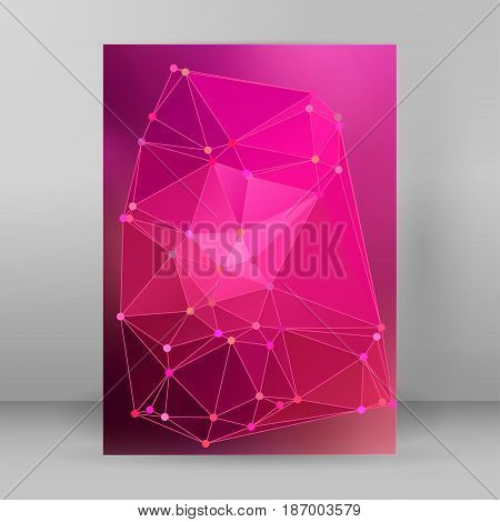 Modern Triangle Background 3D Effect Cover Page Brochure A4 Format20
