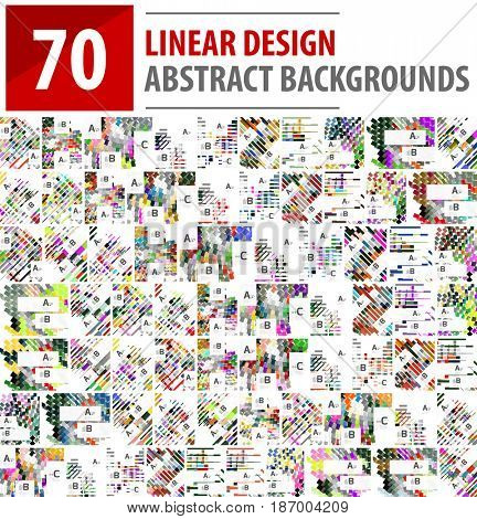 Mega collection of linear design abstract backgrounds