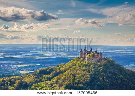 Hohenzollern Castle At Sunset, Baden-württemberg, Germany