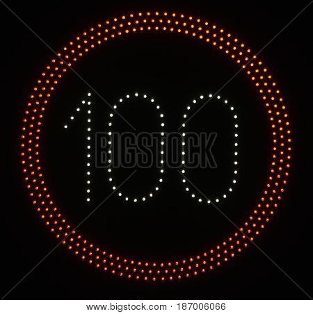 Led Light Speed Limit Sign - 100