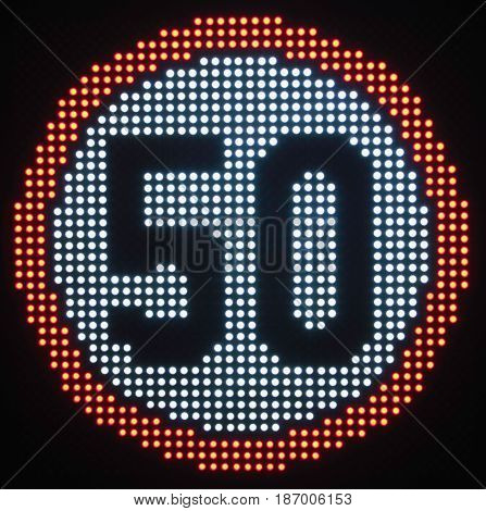Speed Limit Sign 50