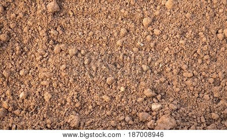 Soil texture background top view for design
